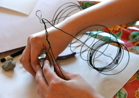 Laurie's Wire Sculpture Class