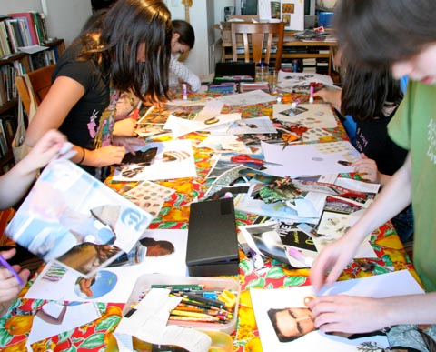 One of Laurie's art classes