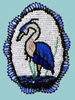 Heron Medallion by Midge Dean, Seneca