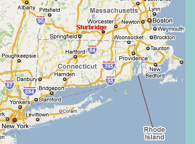 Location of Sturbridge
