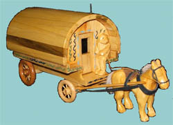 Toy horse and wagon